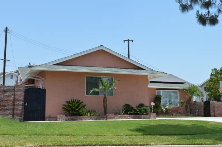 front yard of home with stucco