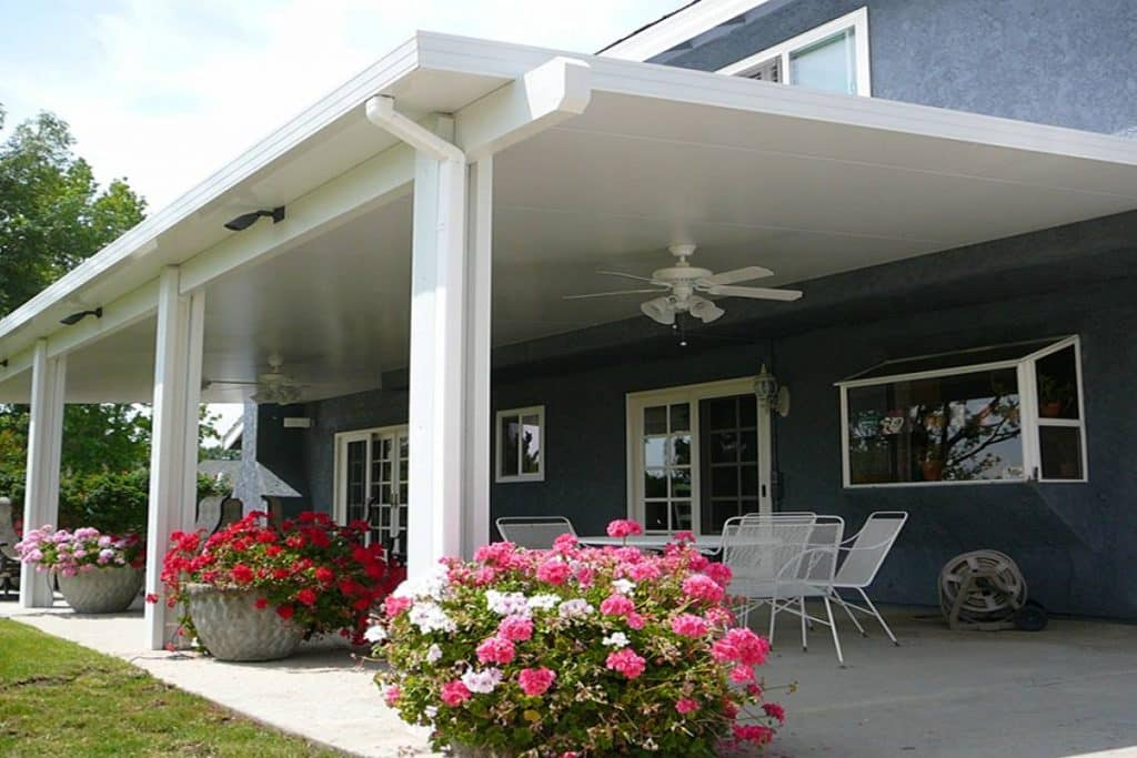 white patio covers with patio furniture