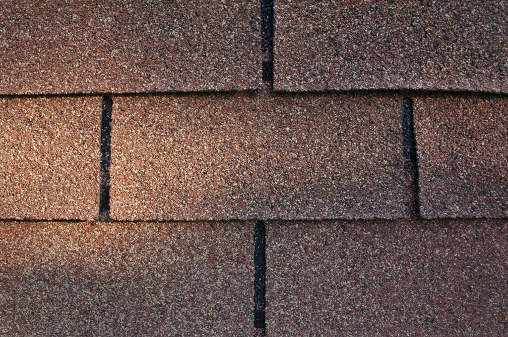 red 3-tab asphalt shingle