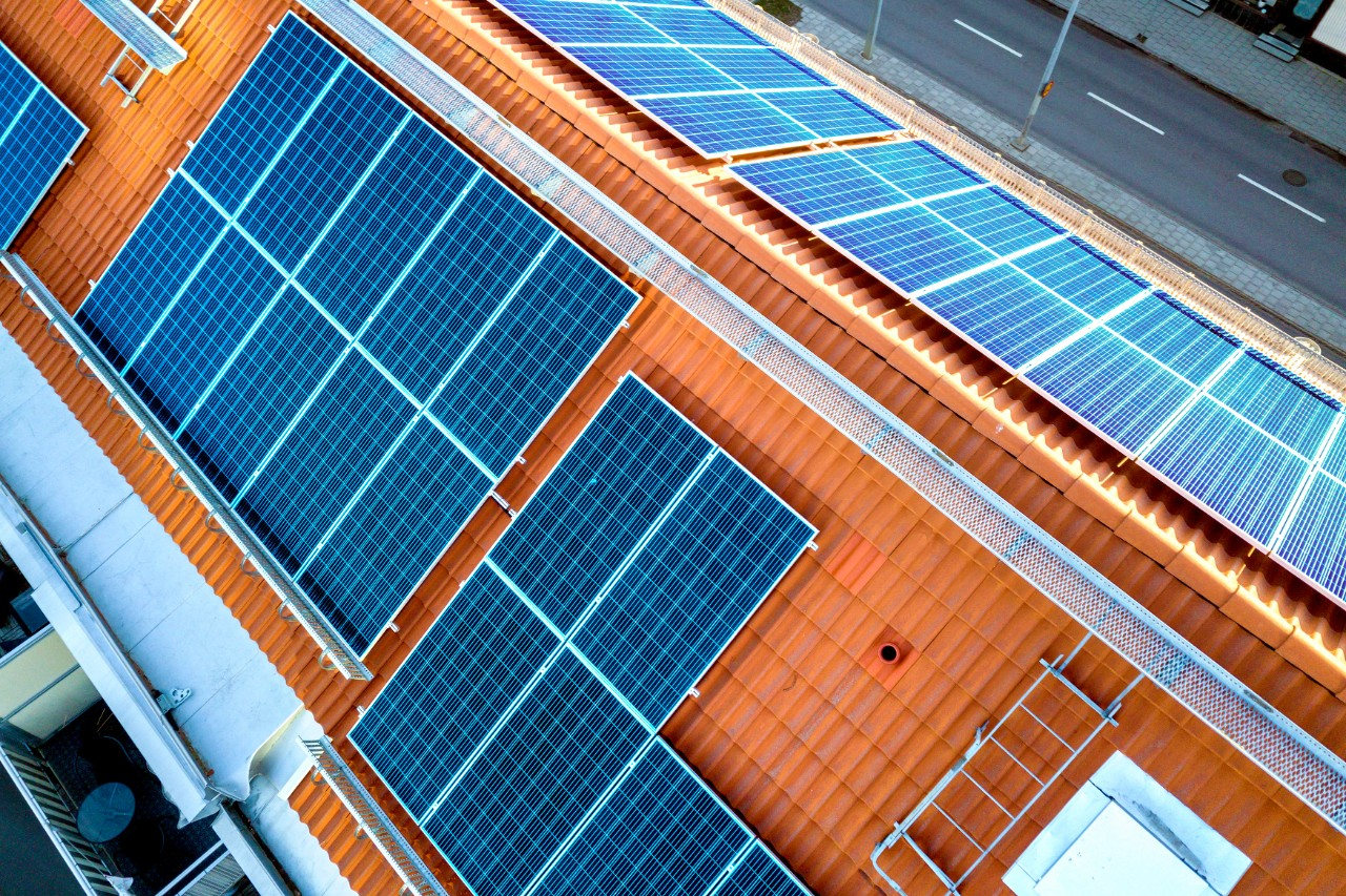 solar panels on tile roofing