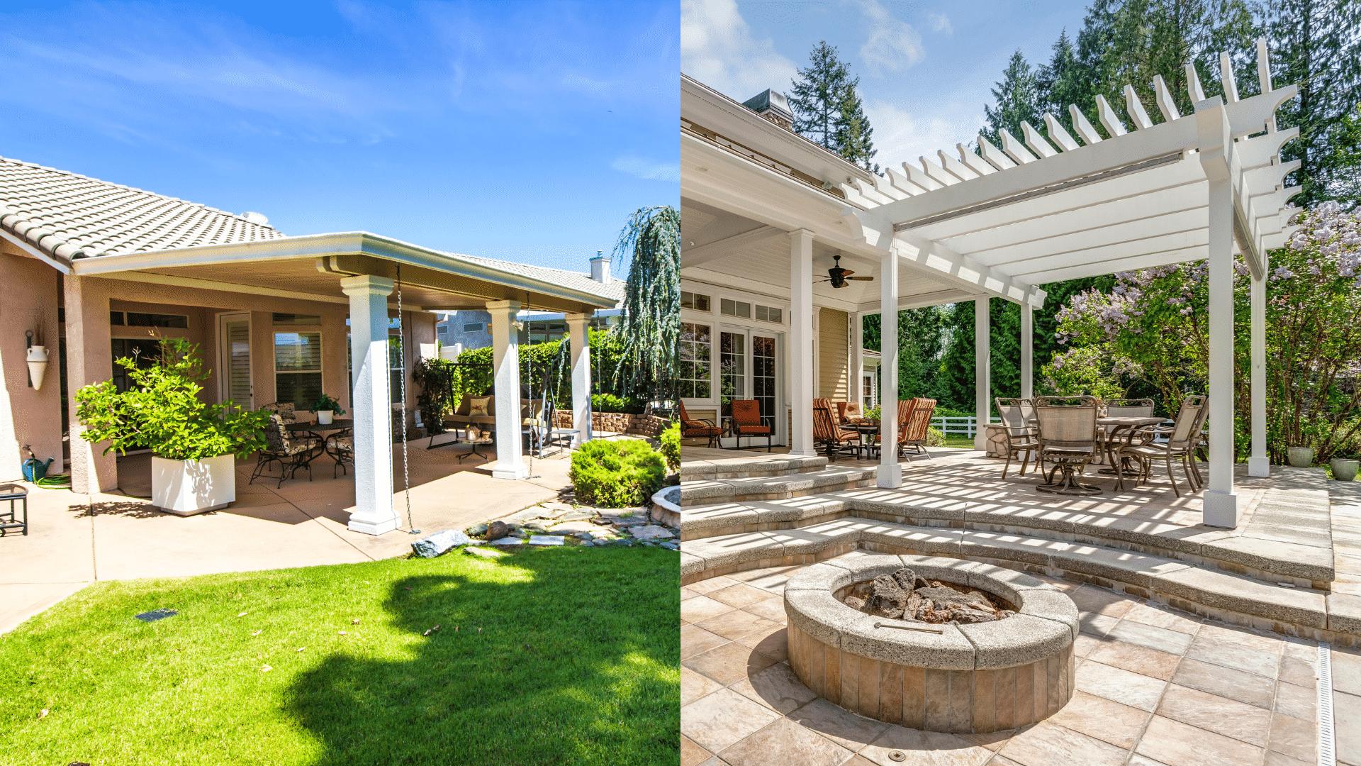 patio roof vs pergola