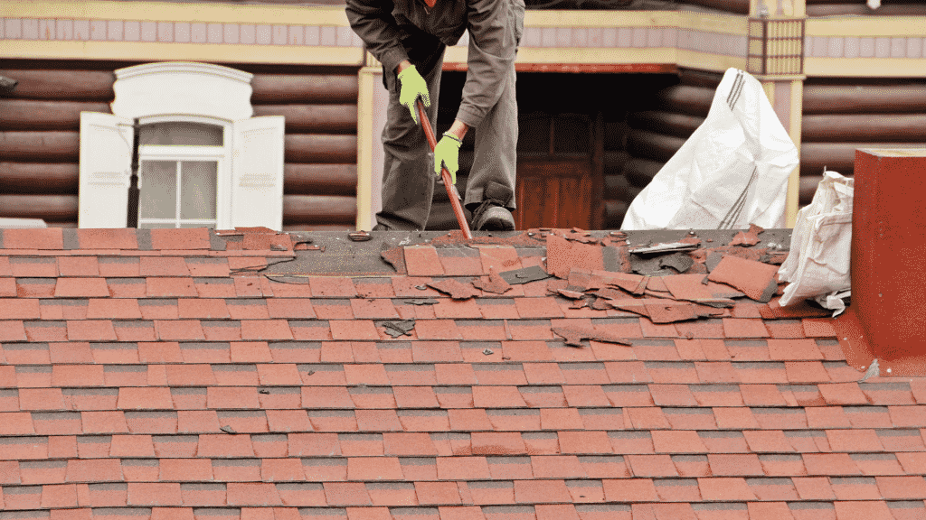 removing old asphalt shingles