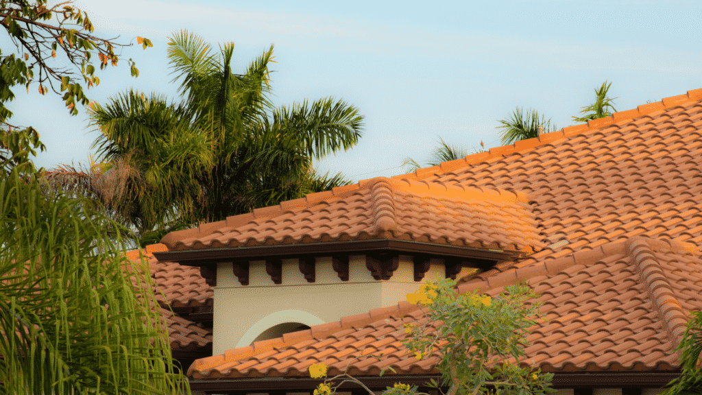 clay tile roofing on home